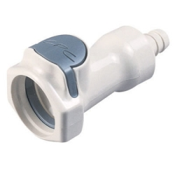 """3/8"""" In-Line Hose Barb HFC 35 Series Polysulfone Coupling Body - Straight Thru (Insert Sold Separately)"""