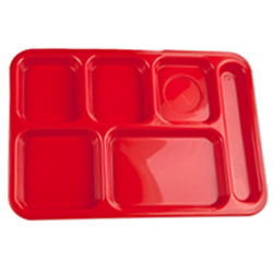 Red Right Hand 6 Compartment Tray