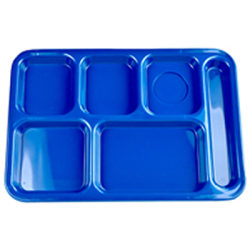 Blue Right Hand 6 Compartment Tray