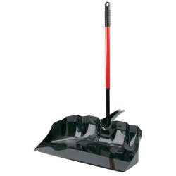 """22"""" Black/Red Libman ® Outdoor/Shop Scoop with Handle"""