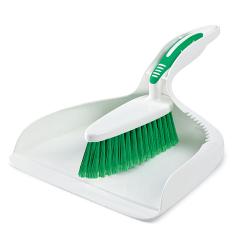 "9.5"" White Libman ® Dust Pan & Counter Brush"