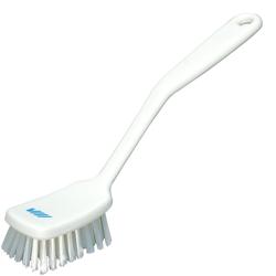 White Small Utility Hand Brush With Stiff Bristles