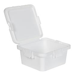 28 Dram White Polypropylene Mini Child-Resistant Container