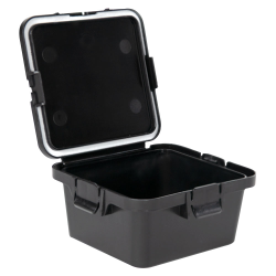 28 Dram Black Polypropylene Mini Child-Resistant Container