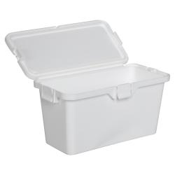87 Dram White Polypropylene Brick Child-Resistant Container