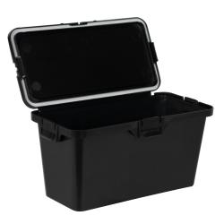 87 Dram Black Polypropylene Brick Child-Resistant Container
