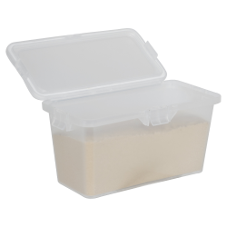 87 Dram Clear Polypropylene Brick Child-Resistant Container