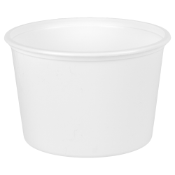 16 oz. White Polypropylene Squat Container (Lid Sold Separately)