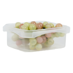8 oz. Square Polypropylene Tamper Evident Container (Lid Sold Separately)