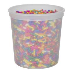 8 oz. Natural Polypropylene Freezer Grade Portion Control Cup
