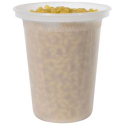 24 oz. Natural Polypropylene X-Line Round Freezer Grade Container