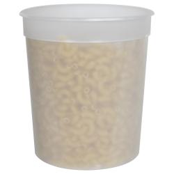 34 oz. Natural Polypropylene Z-Line Freezer Grade Round Container