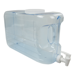 2.5 Gallon Clear Slimline Beverage Container
