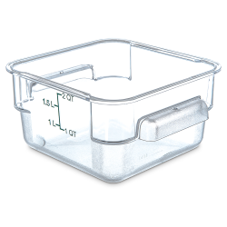 2 Quart Polycarbonate Space-Saver Storage Stor-Plus™ Container (Lid Sold Separately)