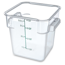 4 Quart Polycarbonate Space-Saver Storage Stor-Plus™ Container (Lid Sold Separately)