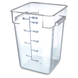22 Quart Polycarbonate Space-Saver Storage Stor-Plus™ Container (Lid Sold Separately)