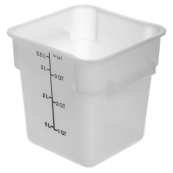 4 Quart Polyethylene Space-Saver Storage Stor-Plus™ Container (Lid Sold Separately)