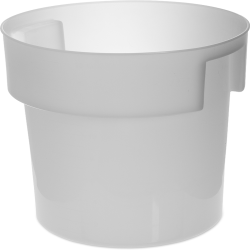 18 Quart White Polyethylene Bain Marie with Handles (Lid Sold Separately)