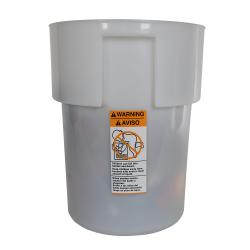 22 Quart White Polyethylene Bain Marie with Handles (Lid Sold Separately)