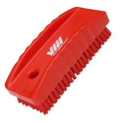 Red Nail Brush w/Stiff Bristles