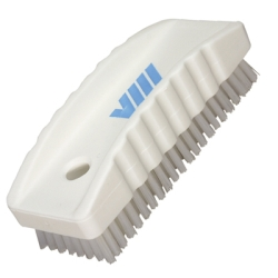 White Nail Brush w/Stiff Bristles