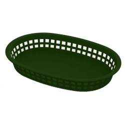 Green Round End Rectangle Food Basket