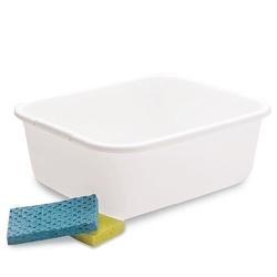 11 Quart Rubbermaid ® White Polypropylene Pan
