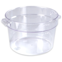 12 Quart Clear StorPlus™  Round Food Storage Container (Lid Sold Separately)