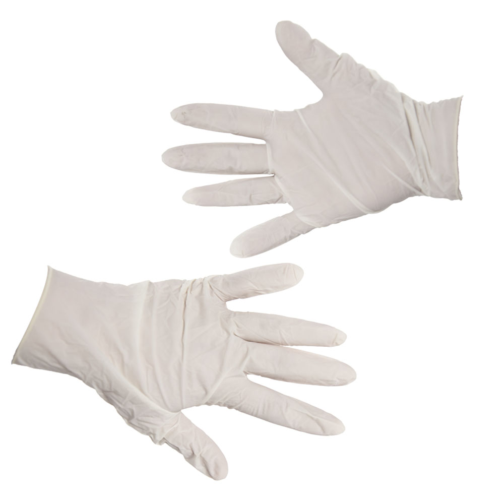 Medium, Powder Free Disposable Latex Gloves