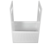 "6"" x 6"" x 4"" Dipping Basket with 1/8"" Perforation"
