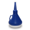 Dark Blue 1-1/4 Quart Double Capped Funnel