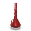 Dark Red 1-2/3 Quart Double Capped Funnel
