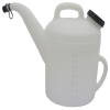 "10 Liter Natural HDPE Pitcher 13"" D x 15"" L-Spout x 13 1/2"" H"