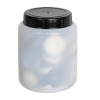 120mL Kartell Round HDPE Jars with Screw Caps