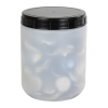 500mL Kartell Round HDPE Jars with Screw Caps - Case of 10