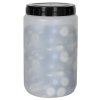 1500mL Kartell Round HDPE Jars with Screw Caps - Case of 10