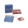 Blue BioBox™ Storage Box with Transparent Lid for 1mL & 2mL Vials- 9 x 9 Format
