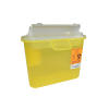 5.4 Quart Translucent Yellow Stackable Sharps Container