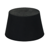 Size 000 Solid Rubber Stopper