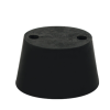 Size 0 Rubber Stopper with 2 Holes
