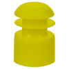 16mm Yellow Flanged Cap