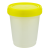 16 oz./500mL Large Specimen Container with Yellow Screw Cap