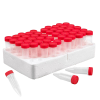 5mL Sterile Macrocentrifuge Tubes with Red Screw Caps & Foam Rack - Case of 500