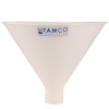 "10"" Top Diameter Natural Tamco® Utility Funnel with 1-3/4"" OD Spout"