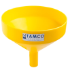 "13-1/8"" Top Diameter Yellow Tamco® Funnel with 2"" OD Spout"