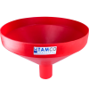 "20-7/8"" Top Diameter Red Tamco® Funnel with 4"" OD Spout"