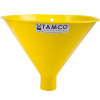 """10"""" Top Diameter Yellow Tamco® Utility Funnel with 1-3/4"""" OD Spout"""
