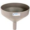 "13-1/8"" Top Diameter Light Gray Tamco® Funnel with 2"" OD Spout"