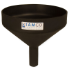 "10"" Top Diameter Black Tamco® Funnel with 1-1/2"" OD Spout"