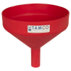"10"" Top Diameter Red Tamco® Funnel with 1-1/2"" OD Spout"